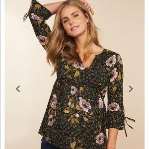 Motherhood maternity floral blouse